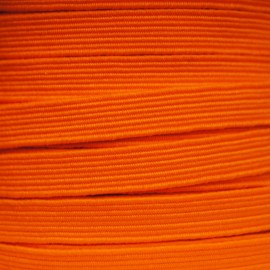 Flat elastic 8mm - Fluorescent orange