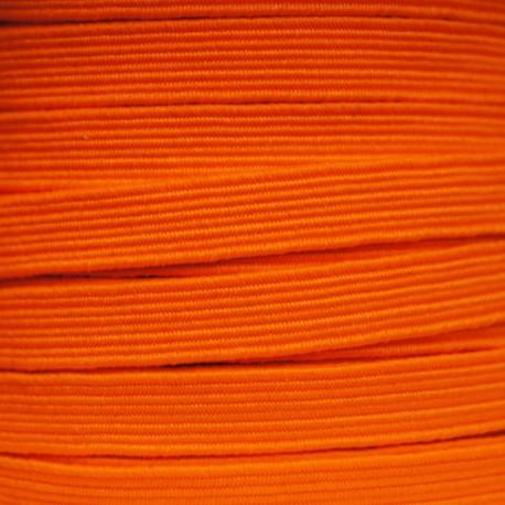Elastique plat 8mm Fluo orange