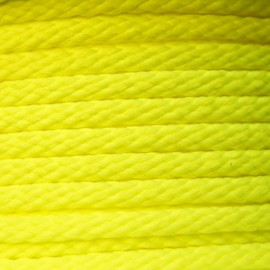 Cordon grand teint 5mm Fluo jaune