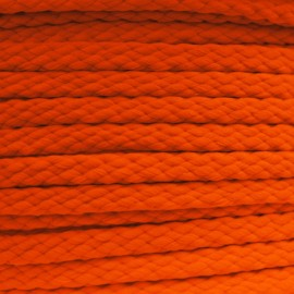 Cordon grand teint 5mm Fluo orange