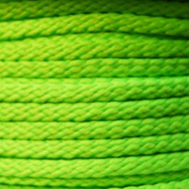 Cordon grand teint 5mm Fluo vert