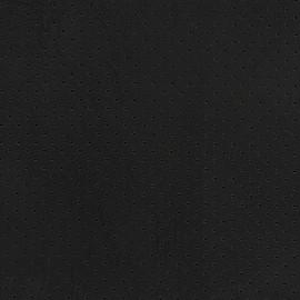 ♥ Coupon tissu 10 cm X 140 cm ♥ Simili cuir ajouré Chic Party - noir