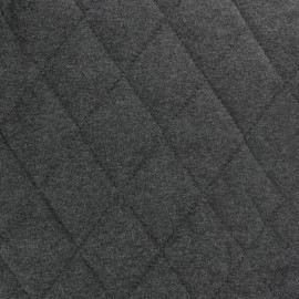 ♥ Coupon 20 cm X 140 cm ♥ Quilted Flecked Jersey Fabric - anthracite