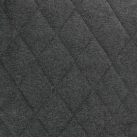 ♥ Coupon 20 cm X 140 cm ♥ Tissu jersey doublure matelassée Chiné - gris anthracite