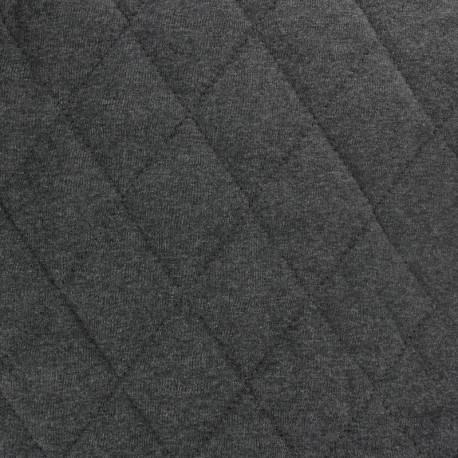 Tissu jersey matelassé Chiné - gris anthracite