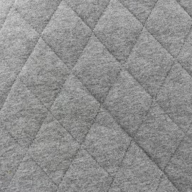 Tissu jersey doublure matelassée Chiné - gris x 10cm