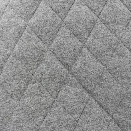 Quilted Flecked Jersey Fabric - grey x 10cm