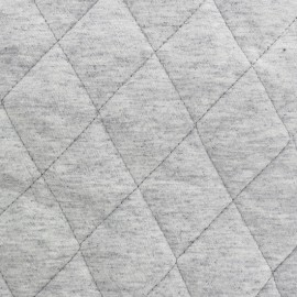 Quilted lining Flecked Jersey Fabric - light grey x 10cm