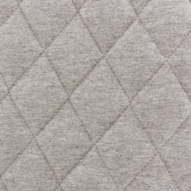 Quilted lining Flecked Jersey Fabric - chestnut x 10cm