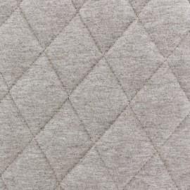 Tissu jersey doublure matelassée Chiné - châtaigne x 10cm