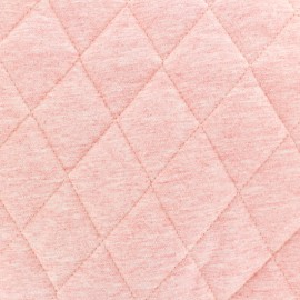 Quilted lining Flecked Jersey Fabric - pink x 10cm