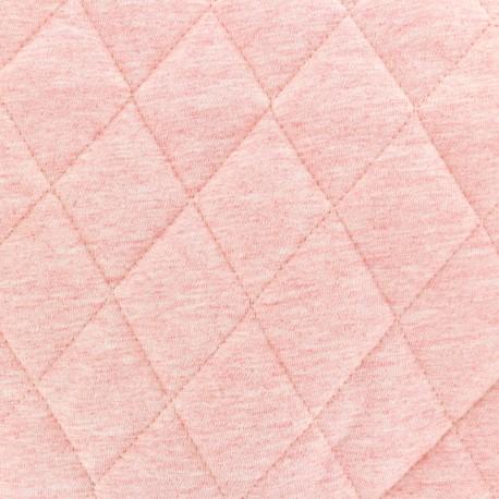 Tissu jersey doublure matelassée Chiné - rose x 10cm