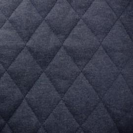 Tissu jersey doublure matelassée Chiné - bleu marine x 10cm