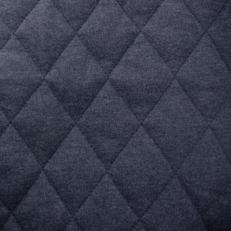 Quilted lining Flecked Jersey Fabric - navy blue x 10cm
