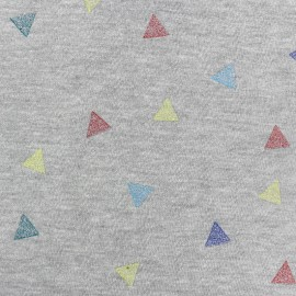 Tissu sweat Confetti - gris x 10cm