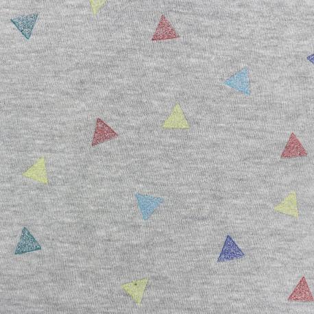 Confetti Sweat fabric - grey x10cm
