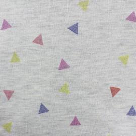 Tissu sweat Confetti - écru x 10cm