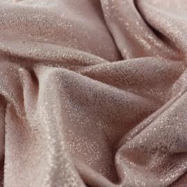 Tissu Suédine Aspect vieilli - rose x 10cm