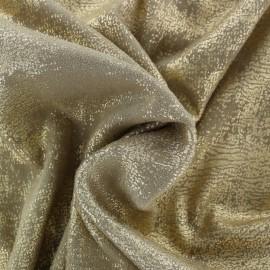 Tissu Suédine Aspect vieilli - beige/doré x 10cm
