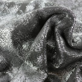 Suede Fabric Vintage aspect - anthracite/silver x 10cm