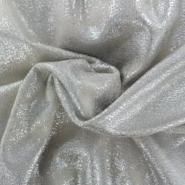 Tissu Suédine Aspect vieilli - gris clair/argent x 10cm