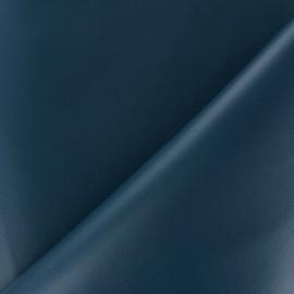 Simili cuir souple nacré - bleu minéral x 10cm