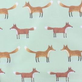 Cotton fabric Woodland bear - green x 10cm