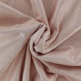 Bright beaded Suedine fabric - pink x 10cm