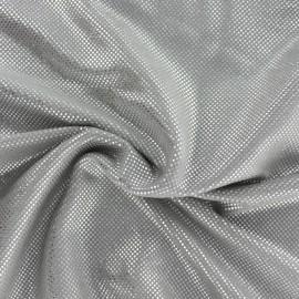 Tissu Suédine perlé brillant - gris x 10cm