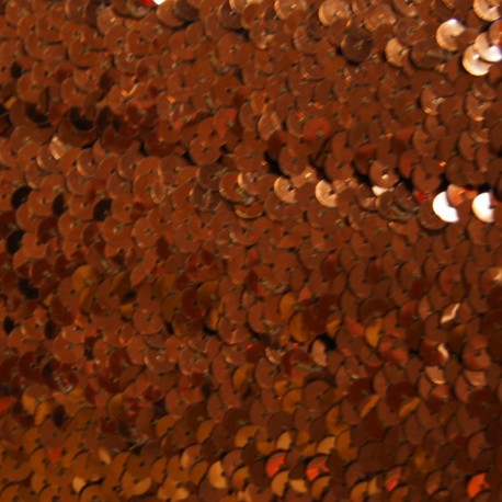 Galon paillettes élastique marron