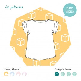 Sewing pattern woman Les patronnes Top - Judd