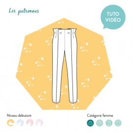 Sewing pattern woman Les patronnes Trousers - Calder