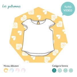Sewing pattern woman Les patronnes Top - Matisse
