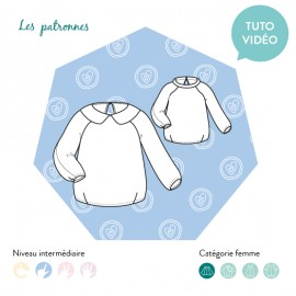 Sewing pattern woman Les patronnes Sweat - Niki