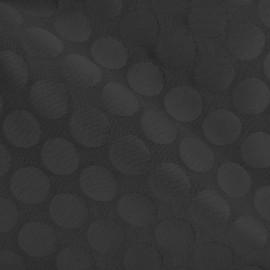 Tissu jacquard relief Dot - noir x 10cm