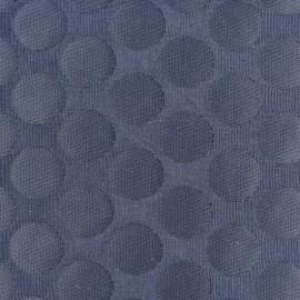 Tissu jacquard relief Dot - bleu nuit x 10cm