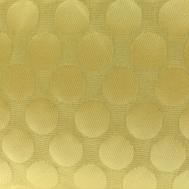 Tissu jacquard relief Dot - moutarde x 10cm