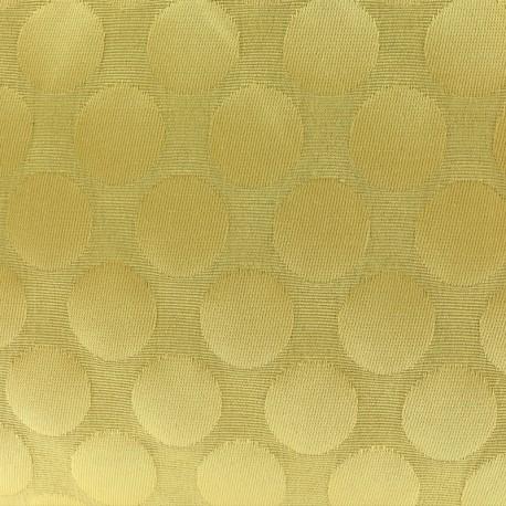 Tissu jacquard relief Dot - moutarde x 10cm