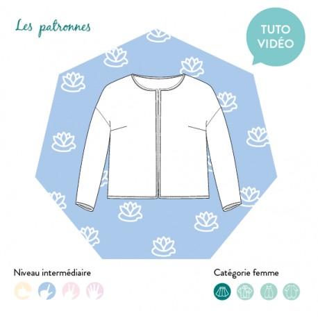 Sewing pattern woman Les patronnes Jacket - Monet