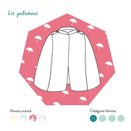 Sewing pattern woman Les patronnes Cape - Turner