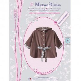 Coat Rosalie sewing pattern Madame Maman of Children / Babies