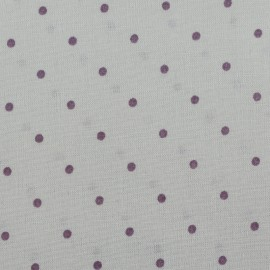 Coated cotton fabric France Duval dots - grey/purple x 10cm