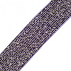 Brillantine lurex elastic ribbon - lilac x 1m