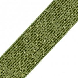 Ruban élastique lurex Brillantine (20mm) - olive x 1m