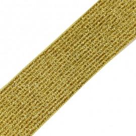 Ruban élastique lurex Brillantine (20mm) - curry x 1m