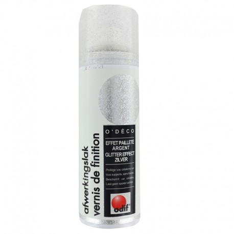Finishing varnish Glitter effect 125 ml - Silver