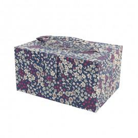 Boîte à couture Frou Frou Tissu fleuri - Navy
