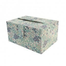 Boîte à couture Frou Frou Tissu fleuri - Eucalyptus