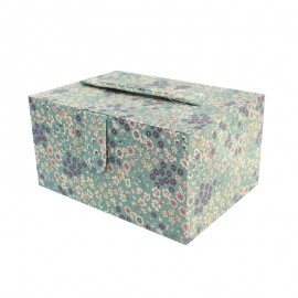 Sewing box Frou Frou Flower fabric - Eucalystus