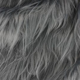 Fourrure Ours Grizzly - bleu gris x 10cm
